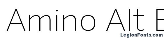 Amino Alt ExtraLight Font