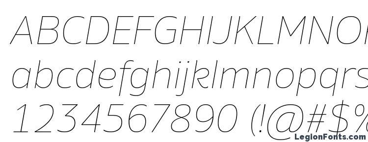 глифы шрифта Amino Thin Italic, символы шрифта Amino Thin Italic, символьная карта шрифта Amino Thin Italic, предварительный просмотр шрифта Amino Thin Italic, алфавит шрифта Amino Thin Italic, шрифт Amino Thin Italic