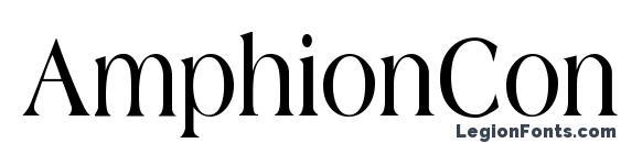 AmphionCondensed Bold Font