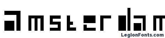 шрифт Amsterdam, бесплатный шрифт Amsterdam, предварительный просмотр шрифта Amsterdam