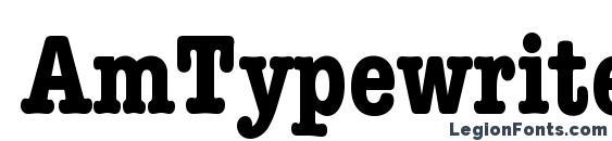 Шрифт AmTypewriterCdITCTT Полужирный