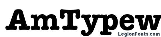 AmTypewriterITCTT Полужирный Font