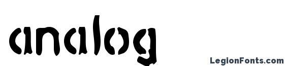 шрифт analog, бесплатный шрифт analog, предварительный просмотр шрифта analog