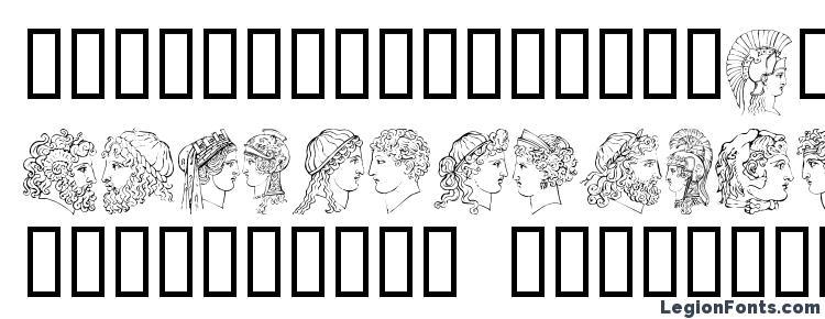 глифы шрифта Ancih, символы шрифта Ancih, символьная карта шрифта Ancih, предварительный просмотр шрифта Ancih, алфавит шрифта Ancih, шрифт Ancih