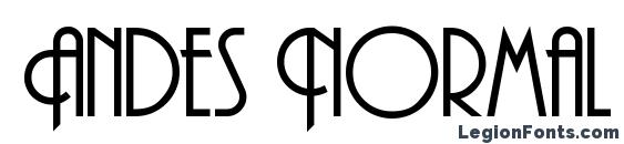 Andes Normal Font