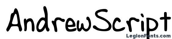 AndrewScript Font, Cute Fonts