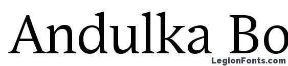 Andulka Book Pro Font