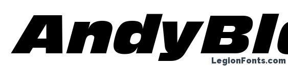 шрифт AndyBlackDB Italic, бесплатный шрифт AndyBlackDB Italic, предварительный просмотр шрифта AndyBlackDB Italic