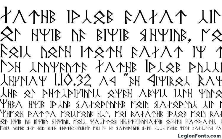 specimens Angerthas moria font, sample Angerthas moria font, an example of writing Angerthas moria font, review Angerthas moria font, preview Angerthas moria font, Angerthas moria font