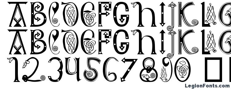 glyphs Anglo Saxon 8th c font, сharacters Anglo Saxon 8th c font, symbols Anglo Saxon 8th c font, character map Anglo Saxon 8th c font, preview Anglo Saxon 8th c font, abc Anglo Saxon 8th c font, Anglo Saxon 8th c font