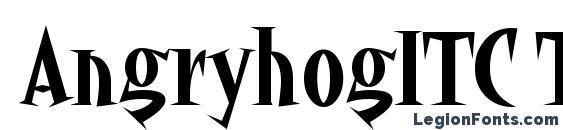AngryhogITC TT Font