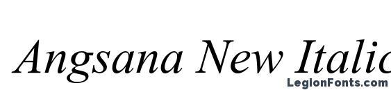 Angsana New Italic Font