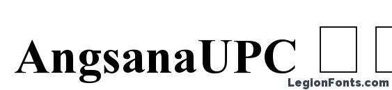 AngsanaUPC Полужирный font, free AngsanaUPC Полужирный font, preview AngsanaUPC Полужирный font