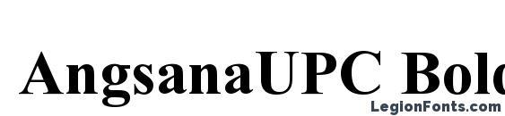 AngsanaUPC Bold Font