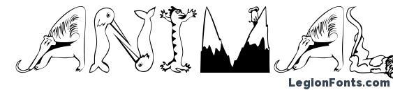 Animalinitials Font, Icons Fonts
