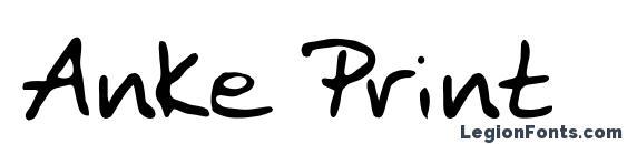 Anke Print Font