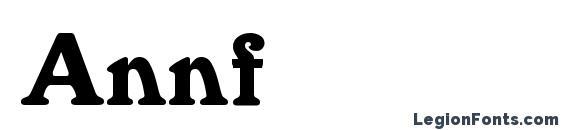 Шрифт Annfold