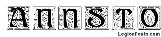 шрифт AnnStone, бесплатный шрифт AnnStone, предварительный просмотр шрифта AnnStone