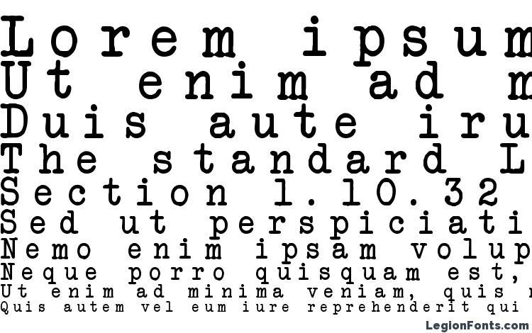 specimens Another Typewriter font, sample Another Typewriter font, an example of writing Another Typewriter font, review Another Typewriter font, preview Another Typewriter font, Another Typewriter font