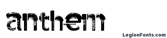 шрифт anthem, бесплатный шрифт anthem, предварительный просмотр шрифта anthem