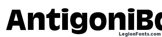 AntigoniBd Bold Font