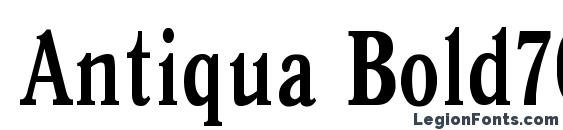 Шрифт Antiqua Bold70b