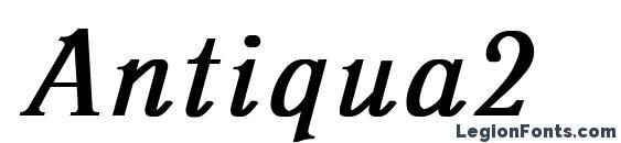 Шрифт Antiqua2