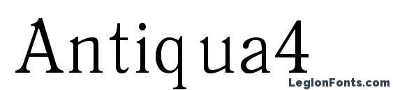 Antiqua4 Font, Russian Fonts