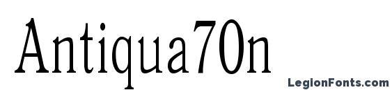 Шрифт Antiqua70n
