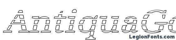 Шрифт AntiquaGo Italic