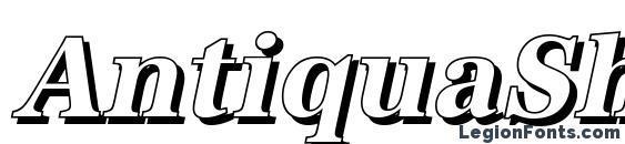 AntiquaSh Cd BoldItalic Font