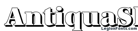AntiquaSh Cd Heavy Regular Font