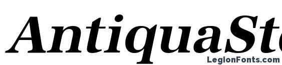 Шрифт AntiquaStd BoldItalic