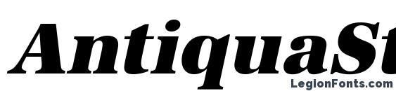 Шрифт AntiquaStd Heavy Italic