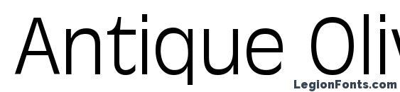 Antique Olive LT Light Font