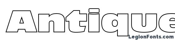 AntiqueOliNorOutPReg Font