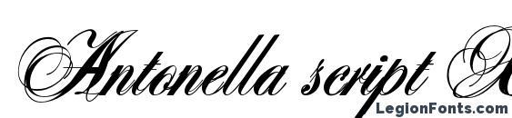 Antonella script X Bold Font, Tattoo Fonts