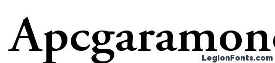 Apcgaramondc bold Font