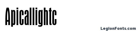 Шрифт Apicallightc