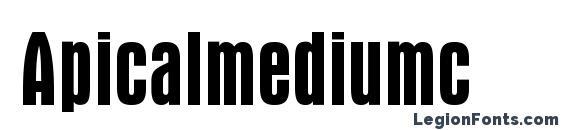 Шрифт Apicalmediumc