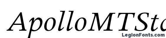 ApolloMTStd Italic font, free ApolloMTStd Italic font, preview ApolloMTStd Italic font
