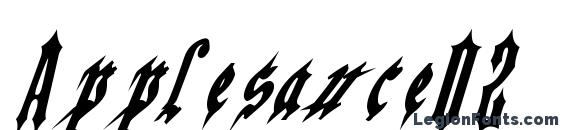 Шрифт Applesauce02