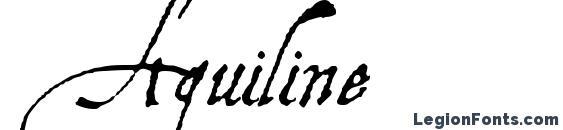 Aquiline Font, Cursive Fonts
