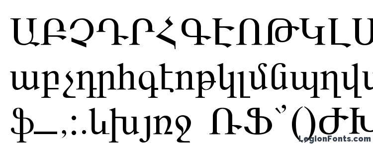глифы шрифта ARARAT, символы шрифта ARARAT, символьная карта шрифта ARARAT, предварительный просмотр шрифта ARARAT, алфавит шрифта ARARAT, шрифт ARARAT