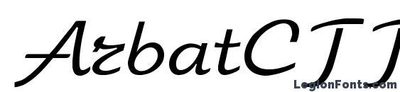 ArbatCTT Font