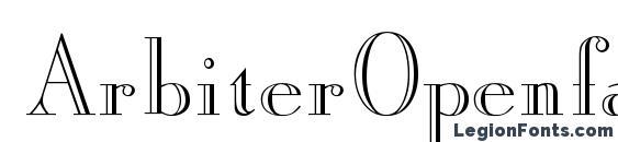 ArbiterOpenface Regular DB Font
