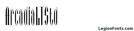шрифт ArcadiaLTStd, бесплатный шрифт ArcadiaLTStd, предварительный просмотр шрифта ArcadiaLTStd
