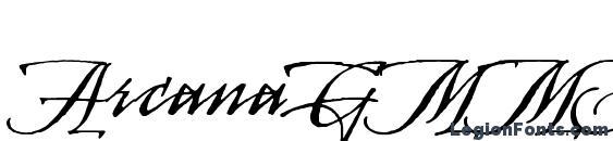 Шрифт ArcanaGMMStd Manuscript