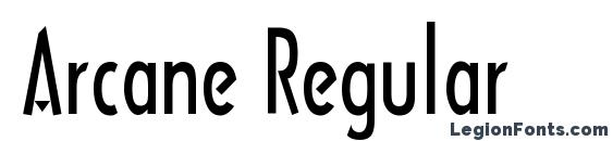 Шрифт Arcane Regular