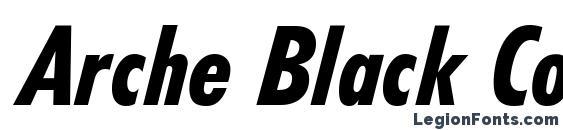 Arche Black Condensed SSi Black Condensed Italic Font